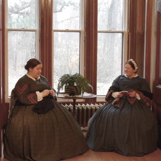 Ladies in the parlor of the LeDuc Historic Estate in Hastings, Minnesota